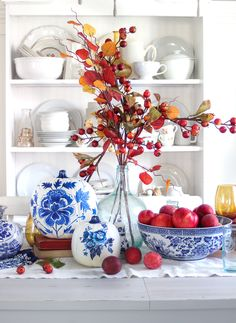 Blue Porcelain Craft