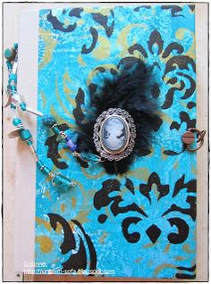 handmade book with gelli prints -- FRONT