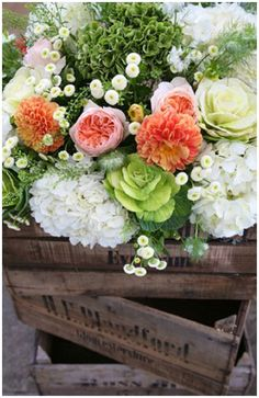 Rustic Wedding Flowers With Cabbages!