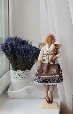 Купить Кухонная фея по мотивам Тильда. - коричневый, кукла, тильда, кухня, Декор, интрьер, хендмейд