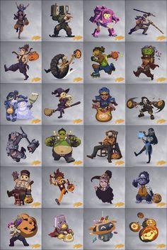 Overwatch on Halloween
