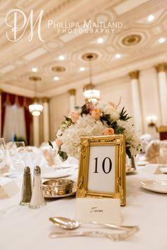 Table Number #ChateauLaurierWedding #Ottawa #Wedding #OttawaWeddingPhotographer #RomanticWedding #TableNumber #Gold
