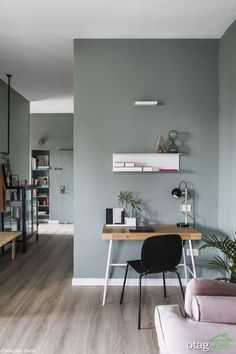 〚 Stylish modern apartment in shades of green in Israel 〛 ◾ Photos ◾Ideas◾ Design Colorful Interior Design, Apartment Interior Design, Modern Interior Design, Colorful Interiors, Scandinavian Interior Bedroom, Decor Scandinavian, Living Room Modern, Living Room Designs, Modern Wall