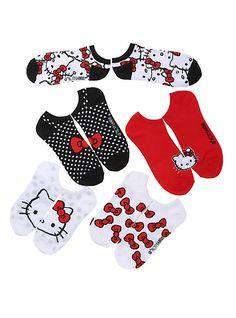 1e27840b93 Sanrio Hello Kitty Bows No-Show Socks 5 Pair
