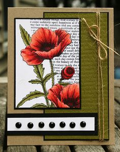 paper and such card - Poppies! Soo Pretty! 8-)