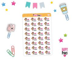 H 020) -- Taco Planner Stickers, I Love Taquitos, Taco tuesday Stickers. de HappyPrints1 en Etsy