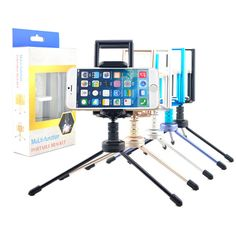 360 Rotatable Mini Stand Tripod Mount Phone Holder For iPad Tablet iPhone Samsung HTC Mobile Phone