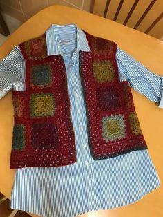 Crochet Jacket, Crochet Blouse, Crochet Girls, Crochet For Kids, Crochet Crafts, Crochet Projects, Crochet Granny, Knit Crochet, Crochet Clothes