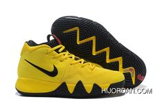 detailed look fcf32 47713 2018 Nike Kyrie 4 Mamba Mentality Bruce Lee In Tour Yellow And Black Top  Deals