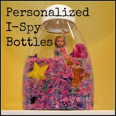 Personalized I-Spy Bottle activity for Kids by Lalymom