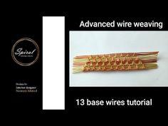 Wire Weaving Tutorial, Diy Jewelry, Handmade Jewelry, Wire Tutorials, Weaving Patterns, Spiral, Weave, Youtube, Handmade Jewellery