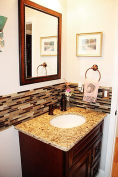 husband's favorite bathroom....earth tone,