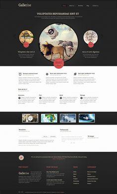 #Webdesign for a #gallery website  83oranges.com