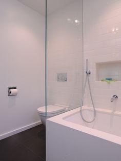 "DMC San Francisco's Design  Cosentino Silestone White Zeus Extreme Tub  White 4""x8"" Subway Tile  Contemporary Bathroom  www.westsidetile.com"