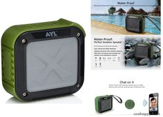 AYL SoundFit Portable Speaker- Forest Green for sale online Wireless Speakers, Bluetooth, Shower, Green, Outdoor, Ebay, Rain Shower Heads, Outdoors, Outdoor Games