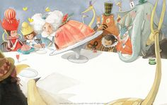 Through the Looking- Glass and What Alice Found There. Art and illustration Kawaii Illustration, Children's Book Illustration, Character Illustration, Watercolor Illustration, Book Illustrations, Queen Alice, Kim Min Ji, Alice In Wonderland Book, Through The Looking Glass