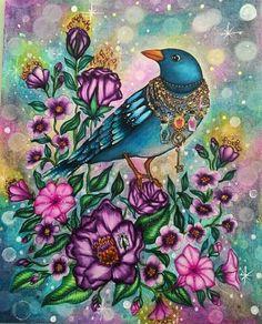 Oiseau. Coloriage zen
