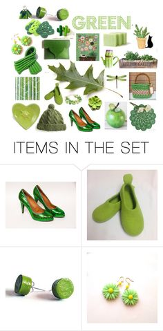 GREEN by belinda-evans on Polyvore featuring art