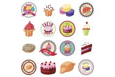 Confectionery icons set @creativework247