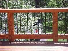 Definitely considering using rebar as part of our deck, with cedar rails...