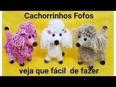 Cachorrinho de GARRAFA PET E LÃ - Muito fofo - YouTube Yarn Animals, Pom Pom Animals, Beaded Animals, Yarn Crafts For Kids, Dog Crafts, Crochet Dog Patterns, Craft Patterns, Diy Pipe, Bird Quilt