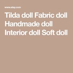Tilda doll Fabric doll Handmade doll Interior doll Soft doll