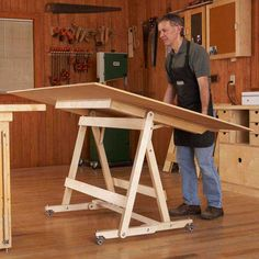 Fold-Flat Sheet Goods Mover Woodworking Plan from WOOD Magazine. Plan also available in WOOD magazine issue March 2012 Learn Woodworking, Woodworking Workshop, Woodworking Furniture, Woodworking Crafts, Woodworking Plans, Intarsia Woodworking, Woodworking Equipment, Woodworking Patterns, Woodworking Jigsaw