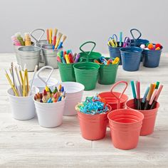 Budding Artist Caddy Yellow In Desk Accessories The Land Of Nod Family Room Pinterest Desks And Playrooms
