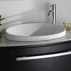 Allura Porcelain Sink. Semi Recessed ...