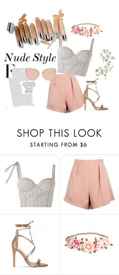 Nude Style by womenopl on Polyvore featuring moda, Rosie Assoulin, Finders Keepers, Topshop and Olsen
