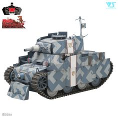 This oddly cute military tank is the Shamrock as seen in the *Valkyria Chronicles* role-playing game. A small, one-turret tank, the Shamrock provides vital support to the hero's Edelweiss on the battlefield and carries an impressive complement of weaponry! Now you can recreate it yourself at home with this fantastically detailed model kit. A must-have for military minded modellers and *Valkyria Ch...