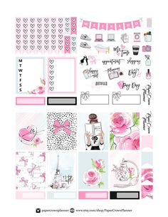 Planner Stickers - Better Handle Your Time And Energy With These Tips Free Planner, Weekly Planner, Happy Planner, Bujo, Journal Cards, Journal Ideas, Life Journal, Journal Stickers, Journal Notebook