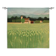 Fine Art Tapestries Spring Wheat Field Wall Tapestry - 5762-WH