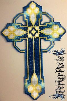 Blue Cross by PerlerPixie on DeviantArt