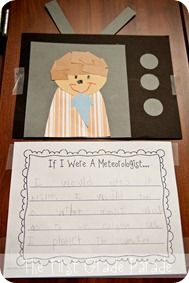 Weather Unit: Create and write about meteorologists during a weather unit. Weather Kindergarten, Teaching Weather, Preschool Weather, Weather Crafts, Weather Activities, Kindergarten Science, Spring Activities, Science Classroom, Teaching Science