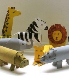activites manuelles clsh - Page 3 - Basteln Kinder Farm Animal Crafts, Animal Crafts For Kids, Farm Animals, Diy For Kids, Wild Animals, Cardboard Tube Crafts, Toilet Paper Roll Crafts, Animal Worksheets, Paper Animals