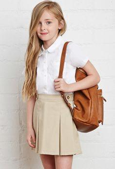 School Uniform Pleated Skirt (Kids) | Forever 21 girls | #f21kids