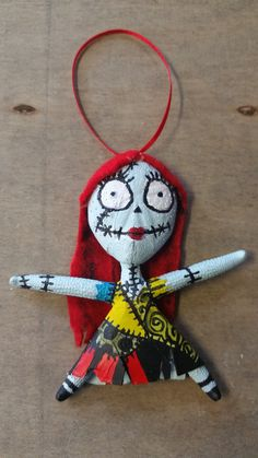 """Sally Ornament For those who Love Nightmare before Christmas. Size varies by the size of the starfish-between 3-4"""" inches Hand made with a Starfish, paint and felt. Each Sally Ornament we make will va"""