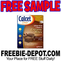 ►► FREE SAMPLE - Calcet Citrate Creamy Bites - FREE Calcium Supplements Sample ►► #Free, #FREESample, #FREEStuff, #Freebie, #Frugal, #Sample ►► Freebie Depot