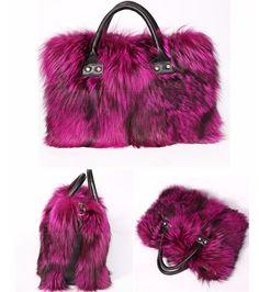 Multi-color Real Fox Fur Bag (7 Colors)
