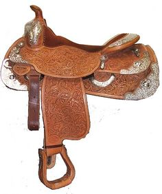 Fancy Western Saddle with all the Trimmings