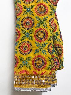 Hand Embroidered Phulkari Pants Shop Online In USA Silk Kurti Designs, Saree Blouse Neck Designs, Kurta Designs Women, Dress Neck Designs, Kurti Designs Party Wear, Bridal Blouse Designs, Phulkari Embroidery, Hand Embroidery Dress, Kurti Embroidery Design