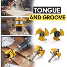 Create perfect tongue & groove joints within seconds! The Tongue and Groove Milling Router Bit makes smooth finger joints. Create perfect tongue & groove joints within seconds! The Tongue and Groove Milling Router Bit makes smooth finger joints. Awesome Woodworking Ideas, Woodworking For Kids, Woodworking Workbench, Woodworking Workshop, Woodworking Techniques, Easy Woodworking Projects, Woodworking Shop, Wood Projects, Woodworking Furniture