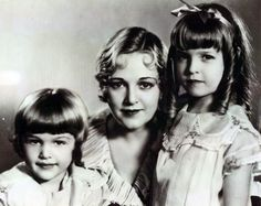 Mildred Davis with daughters Peggy and Gloria, ca. 1930