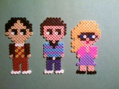 The Big Bang Theory hama beads fridge magnets by akashalondon