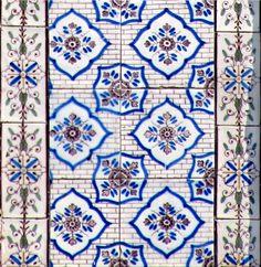 Azulejos antigos no Rio de Janeiro: Central IVc - Rua Barão de São Felix