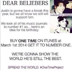 BELIEBER DO THIS FOR JUSTIN, SHOW EVERYONE THAT U WERE BORN A BELIEBER AND AHOW JUSTIN YOU CARE