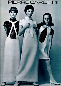 Space age fashions by Pierre Cardin, 1960s