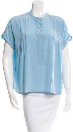 Diane von Furstenberg Silk Pleated Top