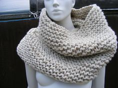 oversized knit scarves infinity scarf oatmeal large cowl in oatmeal wool acrylic blend PAPARAZZI. $90.00, via Etsy.